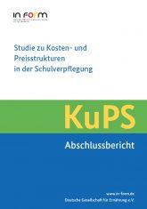 Cover zum Abschlussbericht der Studie zu Kosten- und Preisstrukturen in der Schulverpflegung