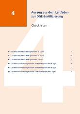 Auszug aus dem DGE-Leitfaden zur Zertifizierung - Checklisten